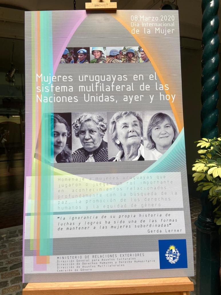 Homenaje a mujeres uruguayas de Naciones Unidas