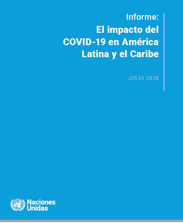 Tapa del infore sobre el impacteo del COVID-19 en América Latina y el Caribe