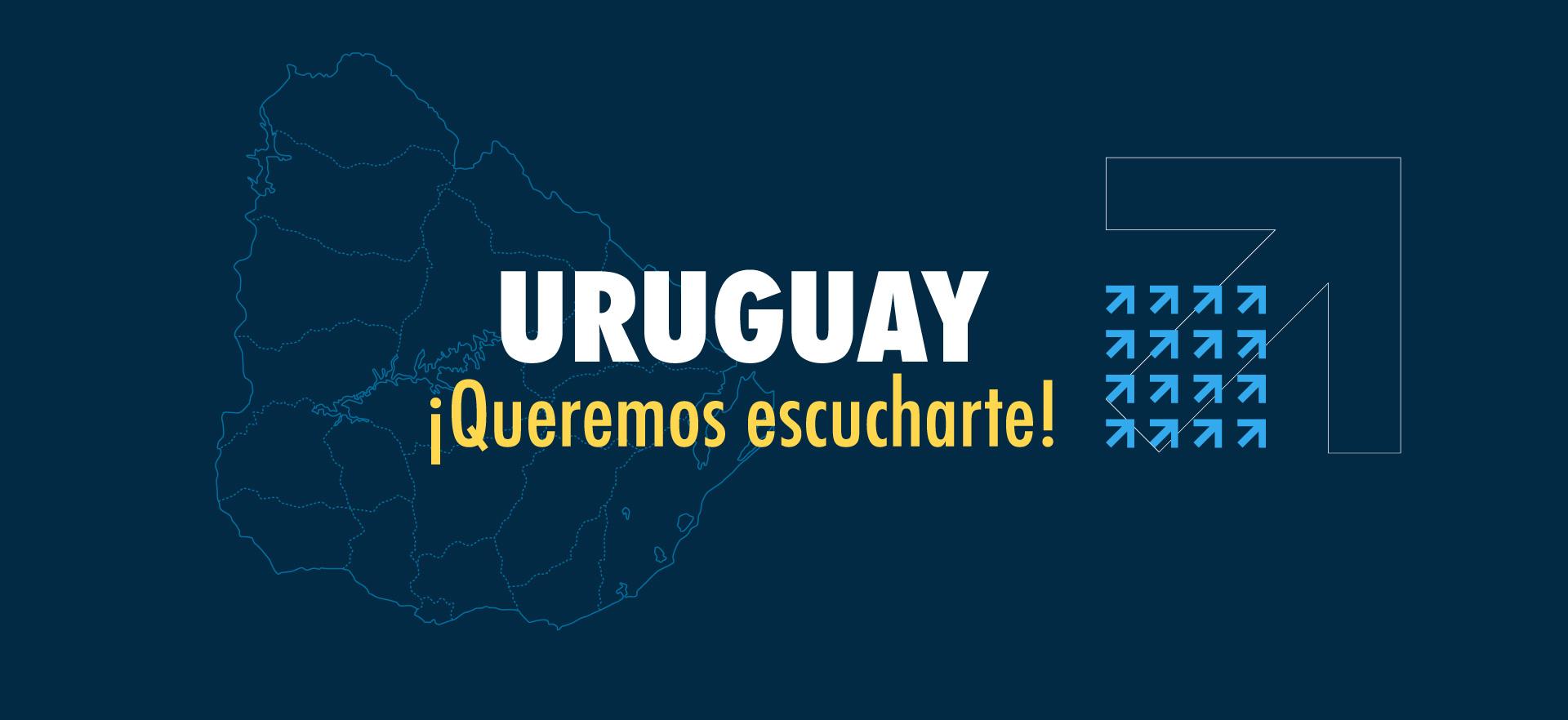 Foto con mapa de Uruguay
