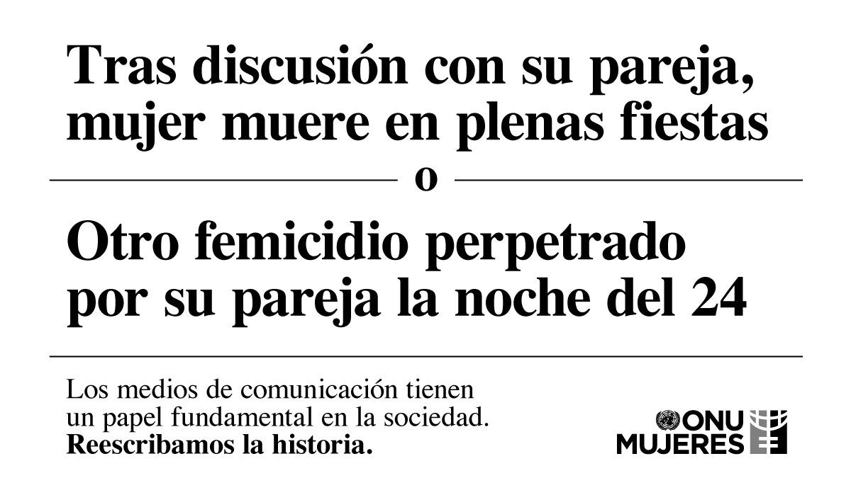 ONU Mujeres en Uruguay amplifica la campaña #TitularesSinSesgo