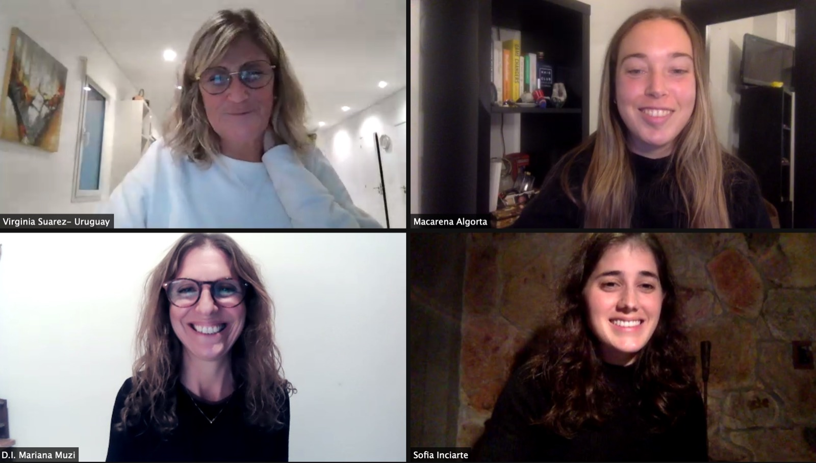 Moda Sostenible: Virgina Suárez (ONU Uruguay), Macarena Algorta (islowly), Mariana Muzi (ORT) y Sofía Inciarte (Moweek)